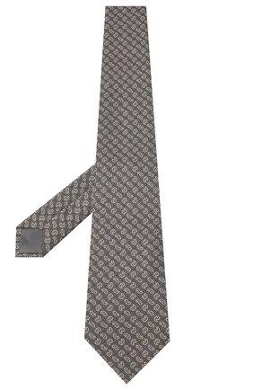 Мужской шелковый галстук BRIONI серого цвета, арт. 062H00/09451 | Фото 2 (Материал: Текстиль; Принт: С принтом)