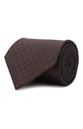 Мужской шелковый галстук BRIONI темно-коричневого цвета, арт. 062H00/09451 | Фото 1