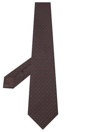 Мужской шелковый галстук BRIONI темно-коричневого цвета, арт. 062H00/09451 | Фото 2