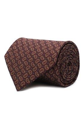 Мужской шелковый галстук BRIONI коричневого цвета, арт. 062H00/09451 | Фото 1