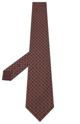 Мужской шелковый галстук BRIONI коричневого цвета, арт. 062H00/09451 | Фото 2