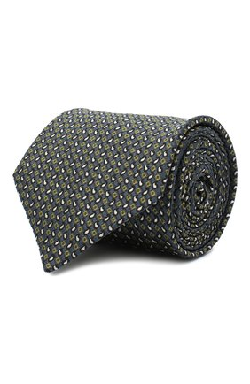 Мужской шелковый галстук BRIONI серого цвета, арт. 062H00/09450 | Фото 1
