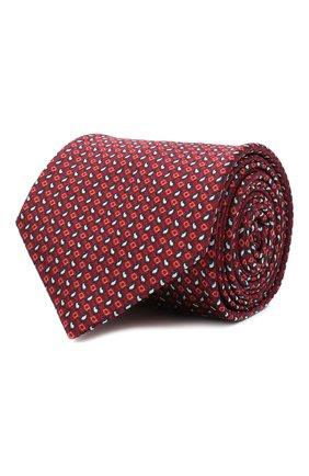 Мужской шелковый галстук BRIONI красного цвета, арт. 062H00/09450 | Фото 1