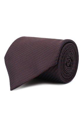 Мужской шелковый галстук BRIONI темно-коричневого цвета, арт. 062H00/09440 | Фото 1