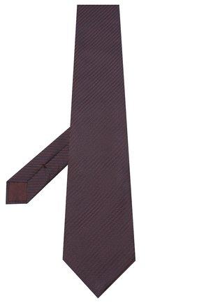 Мужской шелковый галстук BRIONI темно-коричневого цвета, арт. 062H00/09440 | Фото 2