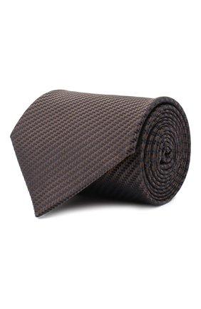 Мужской шелковый галстук BRIONI коричневого цвета, арт. 062H00/09440 | Фото 1