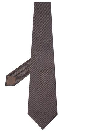 Мужской шелковый галстук BRIONI коричневого цвета, арт. 062H00/09440 | Фото 2