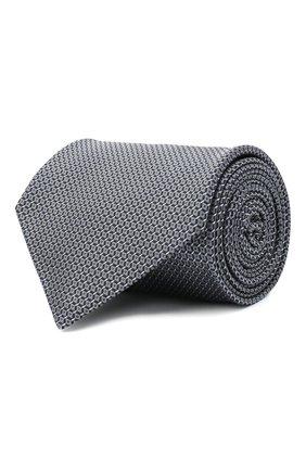 Мужской шелковый галстук BRIONI серого цвета, арт. 062H00/0943U | Фото 1