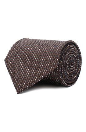 Мужской шелковый галстук BRIONI коричневого цвета, арт. 062H00/0943T | Фото 1