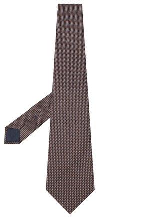Мужской шелковый галстук BRIONI коричневого цвета, арт. 062H00/0943T | Фото 2