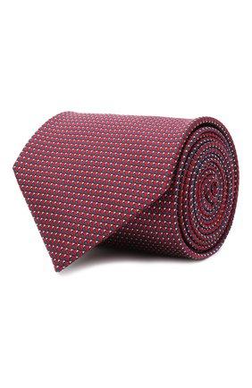 Мужской шелковый галстук BRIONI красного цвета, арт. 062H00/0943T | Фото 1