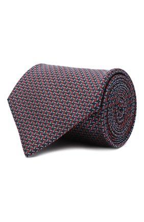 Мужской шелковый галстук BRIONI красного цвета, арт. 062H00/09439 | Фото 1