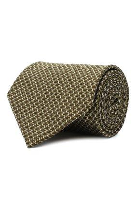 Мужской шелковый галстук BRIONI желтого цвета, арт. 062H00/09439 | Фото 1