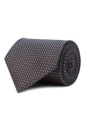 Мужской шелковый галстук BRIONI коричневого цвета, арт. 062H00/09438 | Фото 1