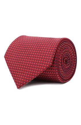 Мужской шелковый галстук BRIONI красного цвета, арт. 062H00/09438 | Фото 1
