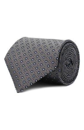 Мужской шелковый галстук BRIONI серого цвета, арт. 062H00/09437 | Фото 1