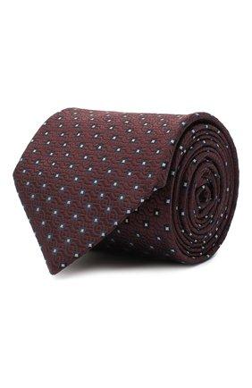 Мужской шелковый галстук BRIONI темно-коричневого цвета, арт. 062H00/09437 | Фото 1