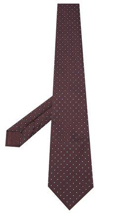 Мужской шелковый галстук BRIONI темно-коричневого цвета, арт. 062H00/09437 | Фото 2