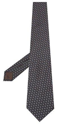 Мужской шелковый галстук BRIONI темно-коричневого цвета, арт. 062H00/09436 | Фото 2