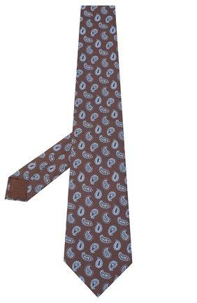 Мужской шелковый галстук BRIONI коричневого цвета, арт. 062H00/09428 | Фото 2
