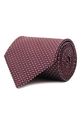 Мужской шелковый галстук BRIONI бордового цвета, арт. 062H00/09426 | Фото 1