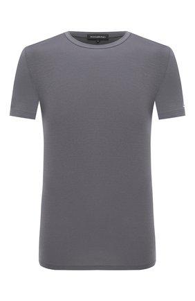 Мужские футболка ERMENEGILDO ZEGNA серого цвета, арт. N3M201080   Фото 1