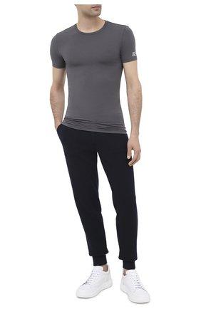 Мужские футболка ERMENEGILDO ZEGNA серого цвета, арт. N3M201080   Фото 2