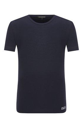 Мужские футболка ERMENEGILDO ZEGNA синего цвета, арт. N3M201090   Фото 1