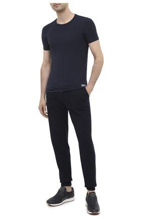 Мужские футболка ERMENEGILDO ZEGNA синего цвета, арт. N3M201090   Фото 2