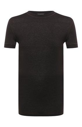 Мужские футболка ERMENEGILDO ZEGNA коричневого цвета, арт. N3M201120   Фото 1