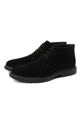 Мужские замшевые ботинки HOGAN черного цвета, арт. HXM3930W352HG0 | Фото 1