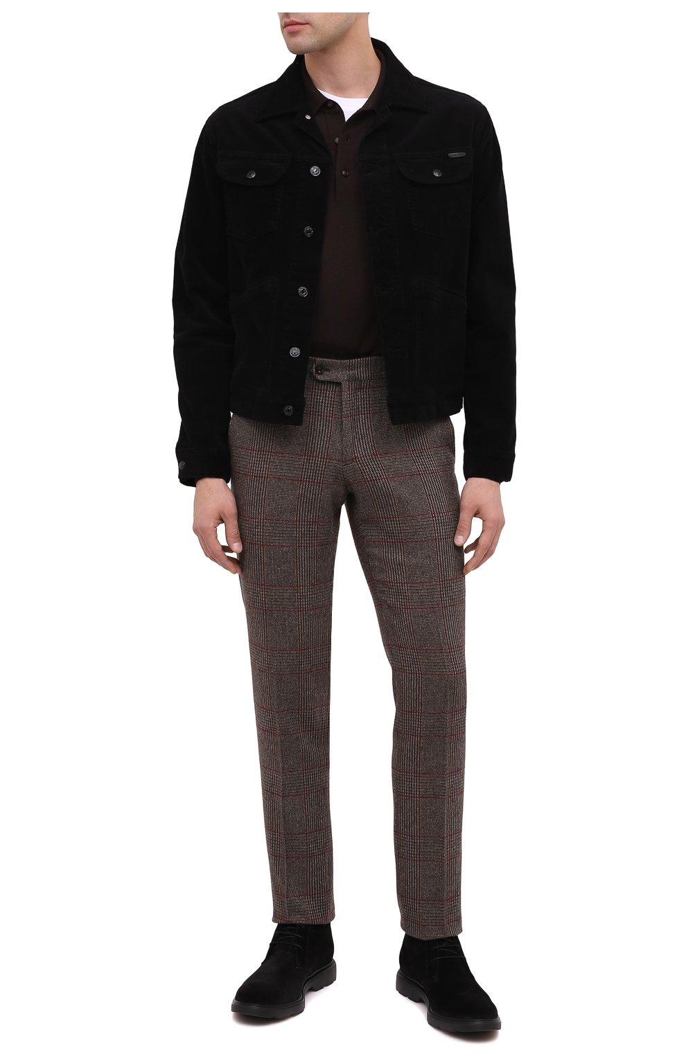 Мужские замшевые ботинки HOGAN черного цвета, арт. HXM3930W352HG0   Фото 2