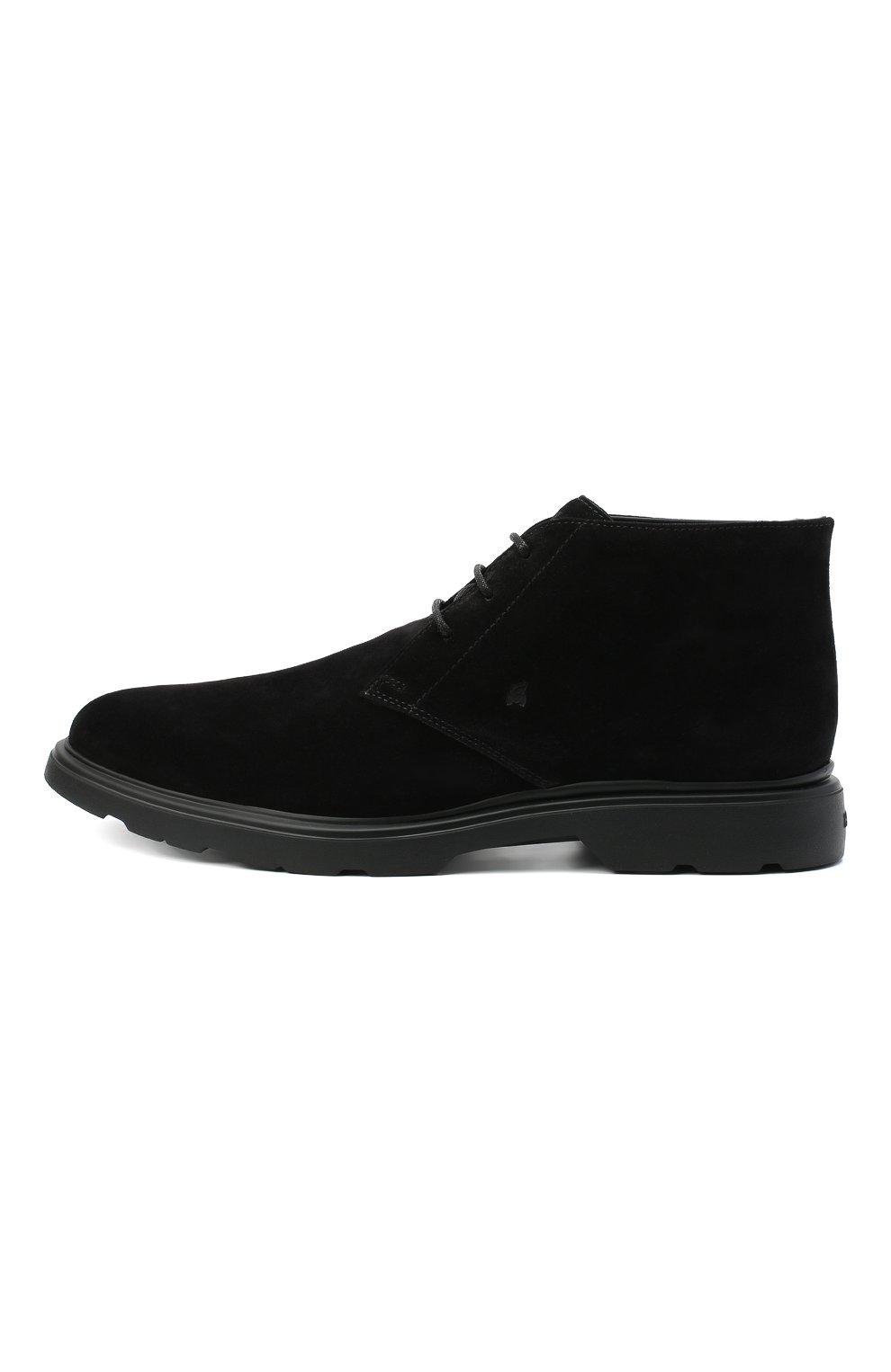 Мужские замшевые ботинки HOGAN черного цвета, арт. HXM3930W352HG0   Фото 3