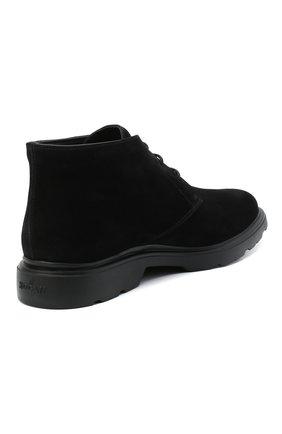 Мужские замшевые ботинки HOGAN черного цвета, арт. HXM3930W352HG0   Фото 4