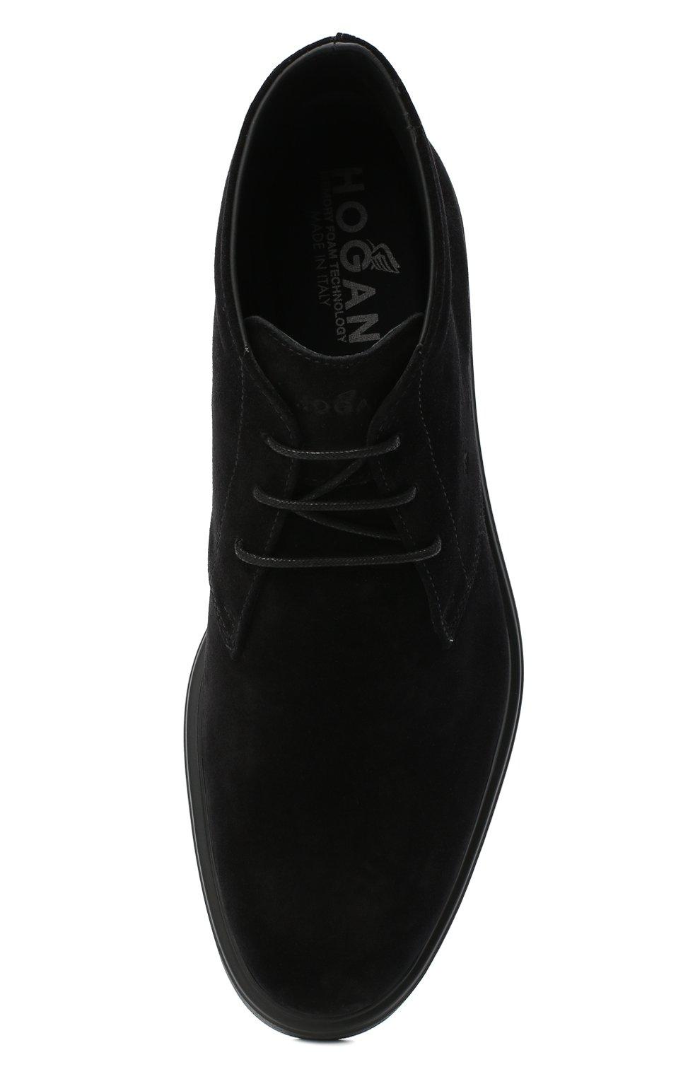 Мужские замшевые ботинки HOGAN черного цвета, арт. HXM3930W352HG0   Фото 5