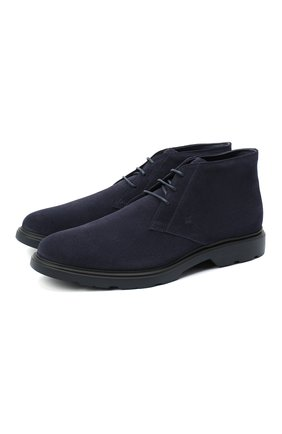 Мужские замшевые ботинки HOGAN темно-синего цвета, арт. HXM3930W352HG0 | Фото 1