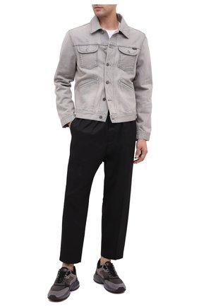 Мужские комбинированные кроссовки HOGAN серого цвета, арт. HXM5450DH1000J | Фото 2