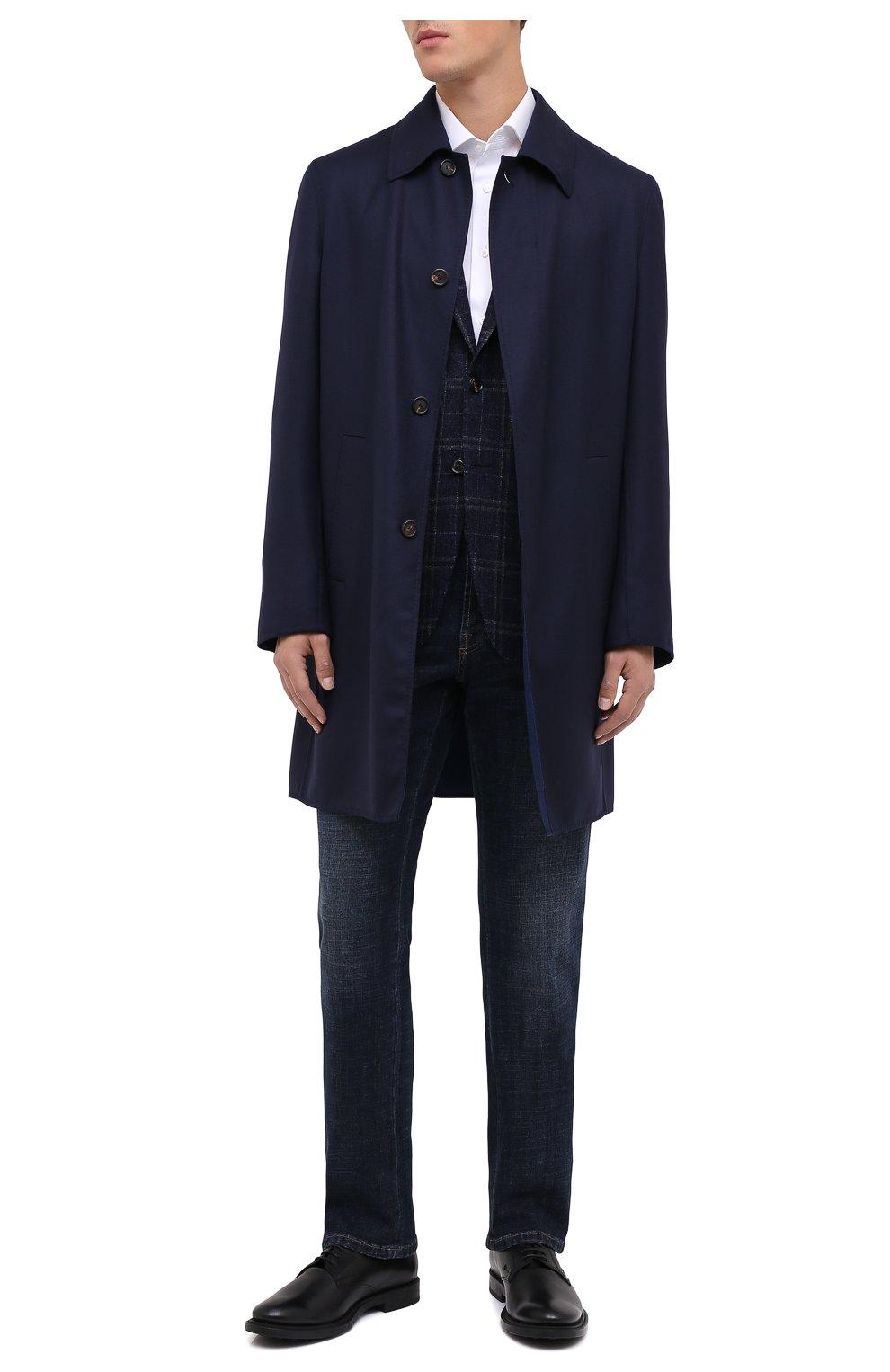 Мужские кожаные дерби TOD'S черного цвета, арт. XXM62C00C200LW | Фото 2 (Материал внутренний: Натуральная кожа; Стили: Классический)