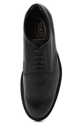 Мужские кожаные дерби TOD'S черного цвета, арт. XXM62C00C200LW | Фото 5 (Материал внутренний: Натуральная кожа; Стили: Классический)