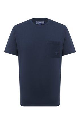 Мужская хлопковая футболка VILEBREQUIN темно-синего цвета, арт. TUSU0P00/390   Фото 1