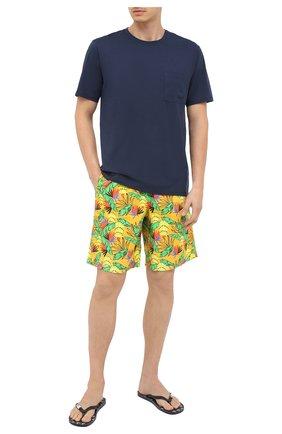 Мужская хлопковая футболка VILEBREQUIN темно-синего цвета, арт. TUSU0P00/390   Фото 2