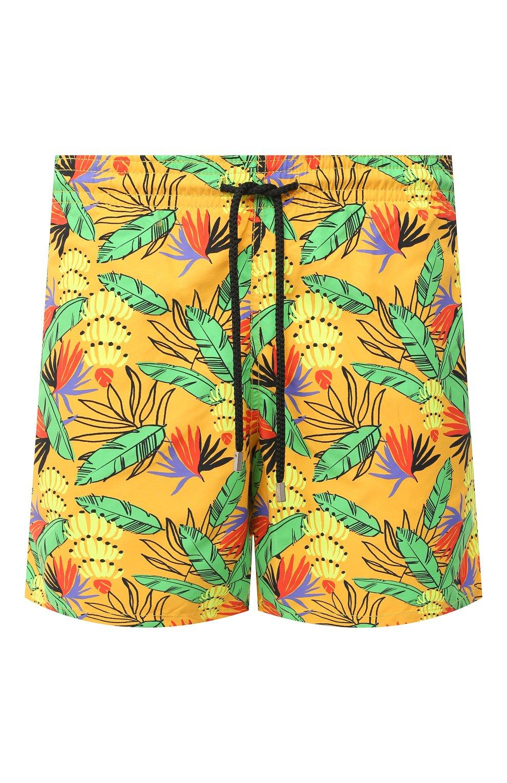 Мужские плавки-шорты VILEBREQUIN желтого цвета, арт. MOOU0B14/118 | Фото 1 (Кросс-КТ: Пляж; Материал внешний: Синтетический материал)