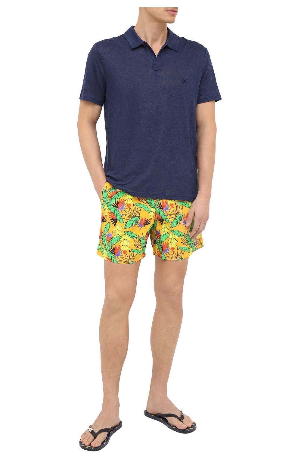Мужские плавки-шорты VILEBREQUIN желтого цвета, арт. MOOU0B14/118 | Фото 2 (Кросс-КТ: Пляж; Материал внешний: Синтетический материал)