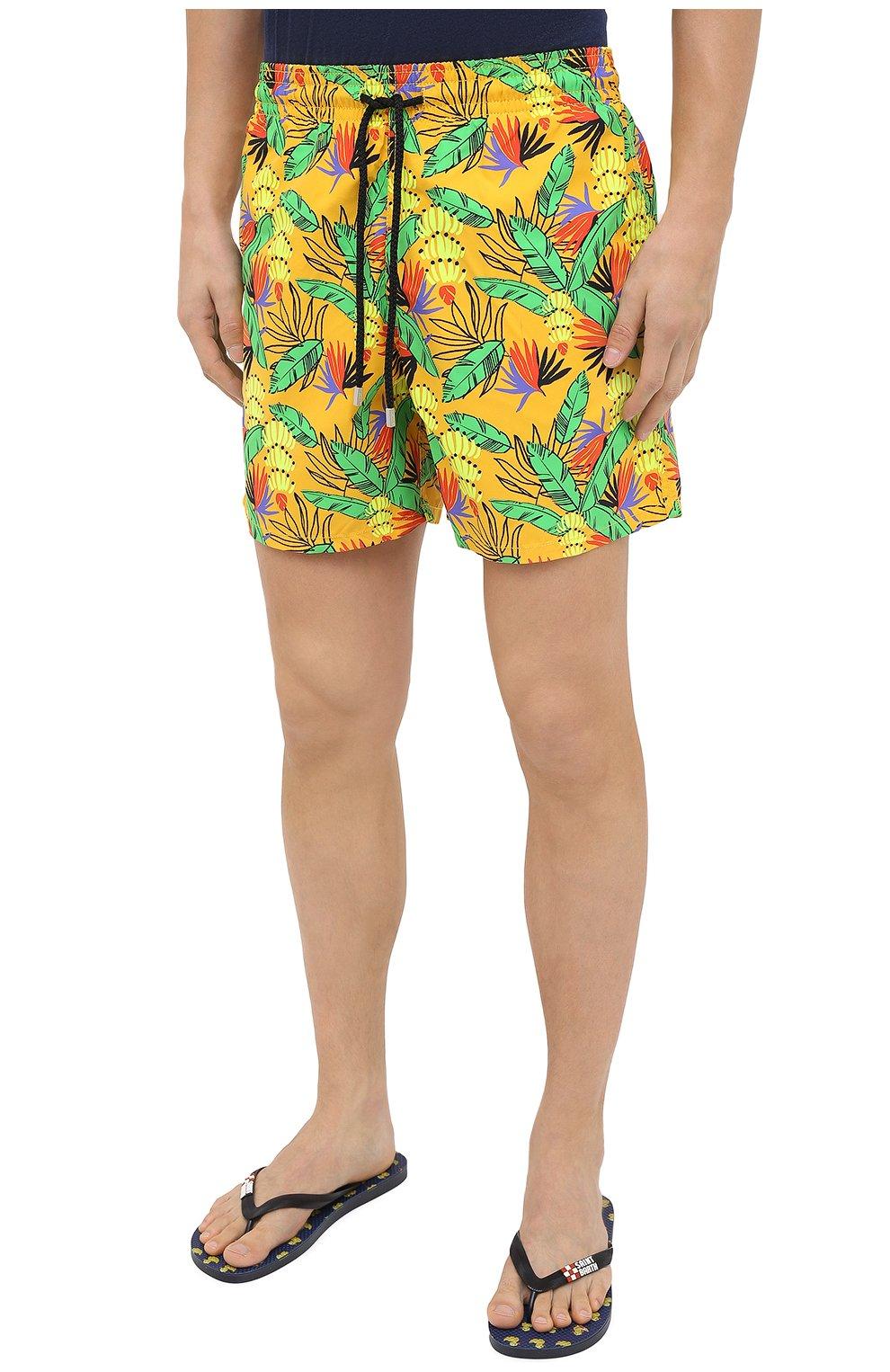 Мужские плавки-шорты VILEBREQUIN желтого цвета, арт. MOOU0B14/118 | Фото 3 (Кросс-КТ: Пляж; Материал внешний: Синтетический материал)