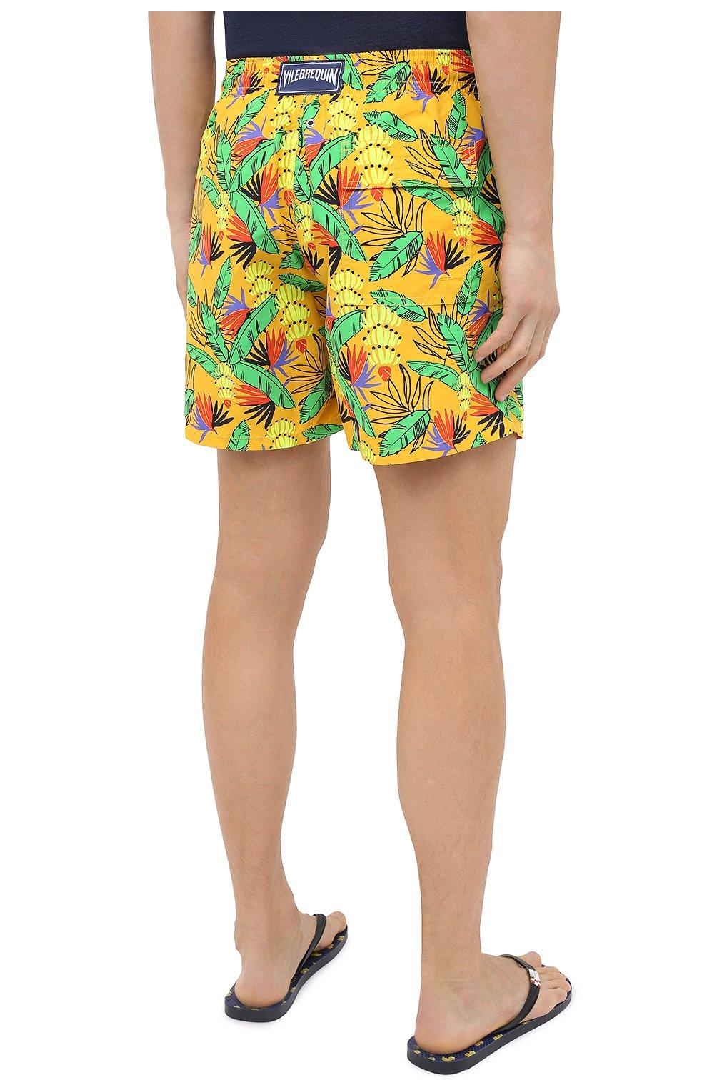 Мужские плавки-шорты VILEBREQUIN желтого цвета, арт. MOOU0B14/118 | Фото 4 (Кросс-КТ: Пляж; Материал внешний: Синтетический материал)