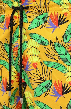 Мужские плавки-шорты VILEBREQUIN желтого цвета, арт. MOOU0B14/118 | Фото 5 (Кросс-КТ: Пляж; Материал внешний: Синтетический материал)