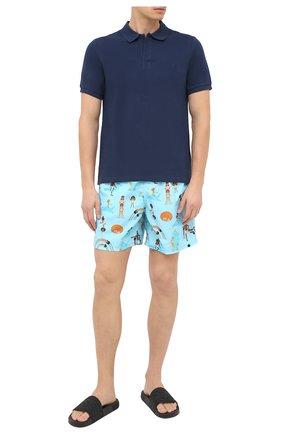 Детского плавки-шорты VILEBREQUIN голубого цвета, арт. MOOU0B29/331 | Фото 2