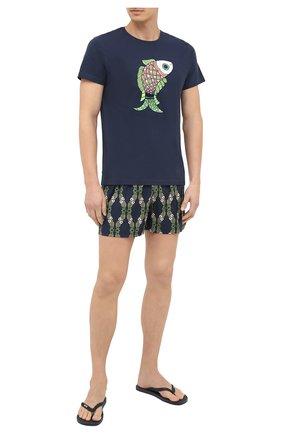 Мужские плавки-шорты VILEBREQUIN темно-синего цвета, арт. MSOU0F04/390 | Фото 2