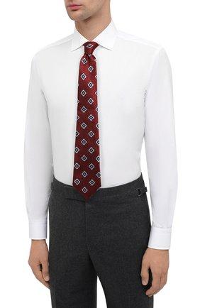 Мужская хлопковая сорочка RALPH LAUREN белого цвета, арт. 791530486 | Фото 4