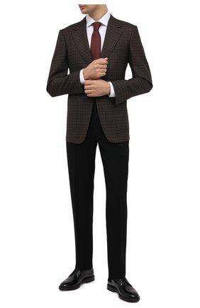 Мужской кожаные дерби BRUNELLO CUCINELLI черного цвета, арт. MZUSHAU891 | Фото 2